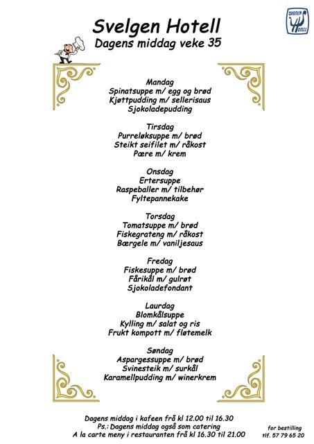 middag av seifilet